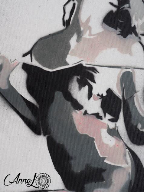 Toile spray acrylique- 38 x46 cm
